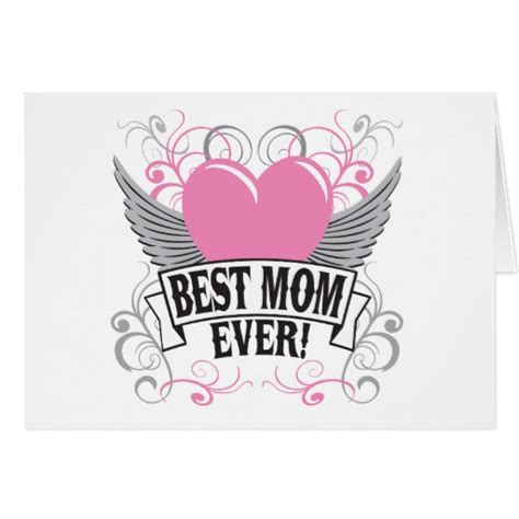 Best Gift Cards For Mom - best mom gifts christmas best mom ever greeting card zazzle creative diy birthday