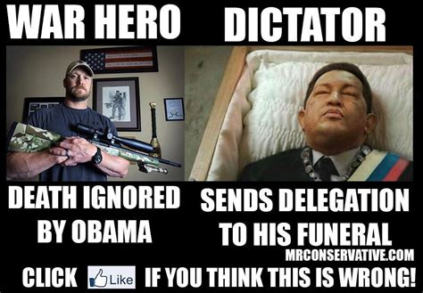 Chris Kyle Meme - obama almost aggressively ignores chris kyle s death but
