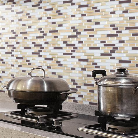 kitchen backsplash stick on peel and stick wall tile kitchen and bathroom backsplashes