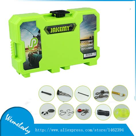 Karpet Fullset 10in1 10 complete jakemy 10 in 1 multitool fishing box set with with fishing hook fishing float pliers