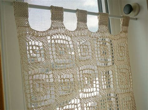 Free Crochet Window Curtain Patterns What A Knit Interior My Decorator Helping You Achieve