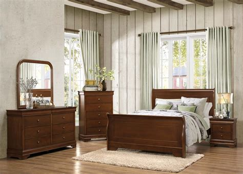 homelegance bedroom set homelegance abbeville sleigh bedroom set brown cherry