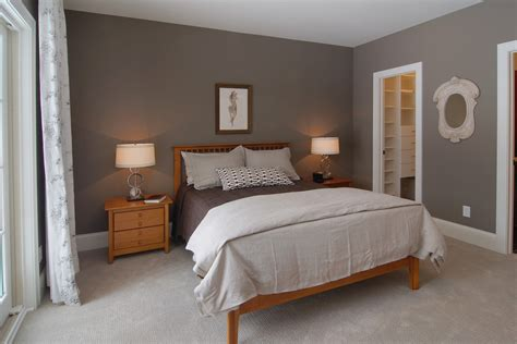bedroom with gray walls grey walls beige carpet bedroom traditional with coachmen