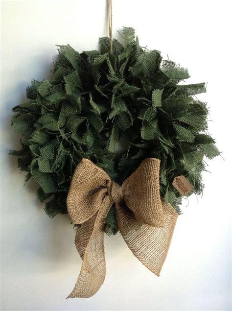 burlap christmas wreath green burlap wreath holiday