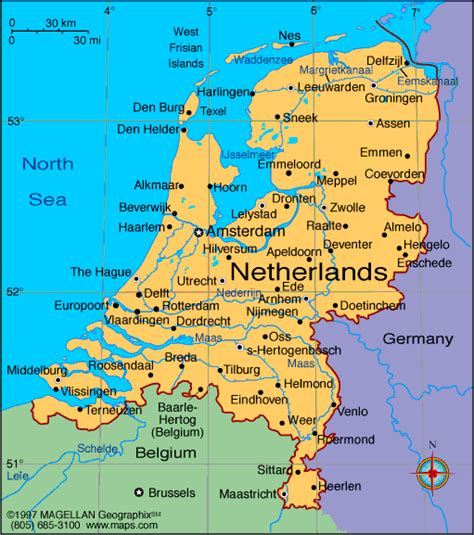 map  netherlands holland nederland cities pictures