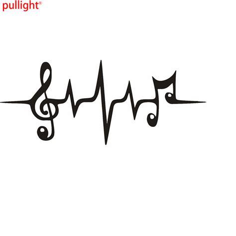 Auto Sticker Hand Bedeutung by Musica Nota Battito Cardiaco Graphic Die Cut Sticker Decal