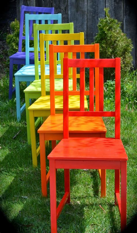 Colorful Chair by Twig And Toadstool Rainbow Chairs