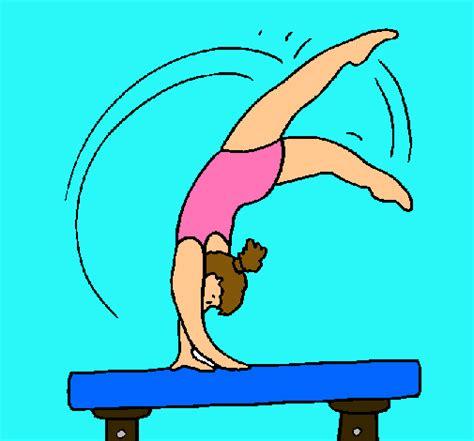 imagenes artisticas para dibujar dibujo de ejercicio sobre potro pintado por gimnasia en