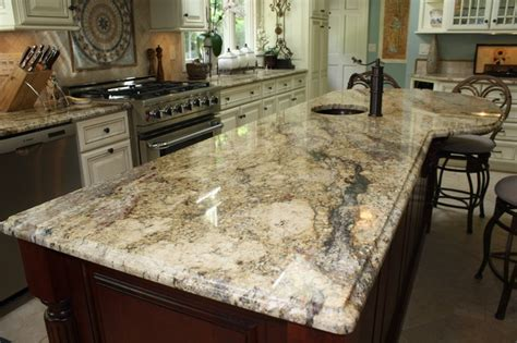 Basic Bathroom Decorating Ideas Yellow River Granite Counter Tops Traditional Kitchen