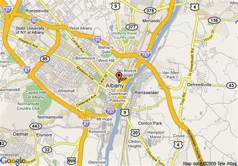 map albany ny map of hton inn suites albany downtown ny albany
