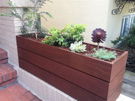 custom ipe planter contemporary outdoor products san francisco by zenscape