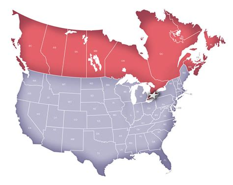 map of canada and usa map usa and canada border all world maps