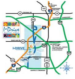 orlando maps maps of i drive international drive