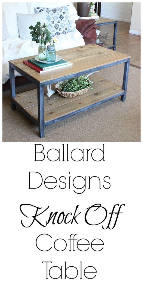 coffee table knock ballard designs knock coffee table curb to refurb