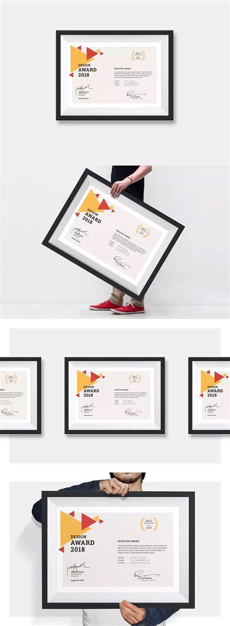 landscape certificates template indesign indd