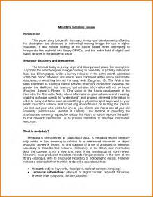 Review Of Literature Sle Mla by 12 Literature Review Exle Mla Monthly Bills Template