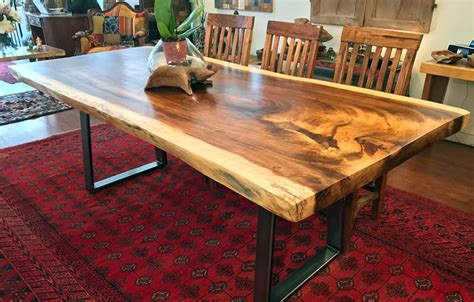 Kitchen Island With Legs Natural Live Edge Wood Slab Dining Tableimpact Imports