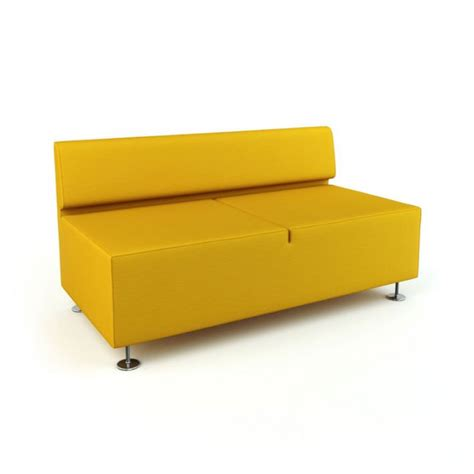modern yellow sofa 3d model cgtrader