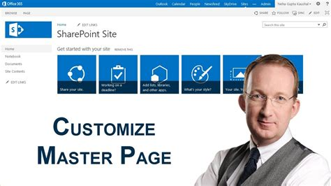 Customize A Sharepoint 2013 Master Page Youtube Sharepoint Home Page Templates