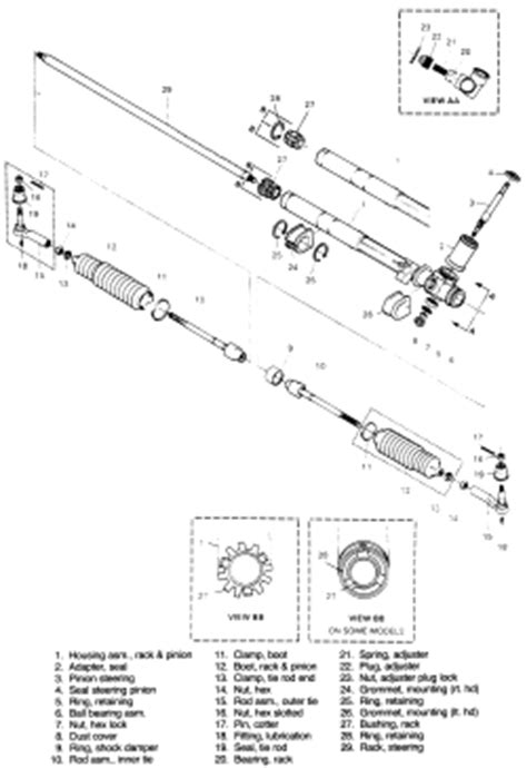 electric power steering 1987 pontiac fiero user handbook service manual rack and pinion replacement on a 1984