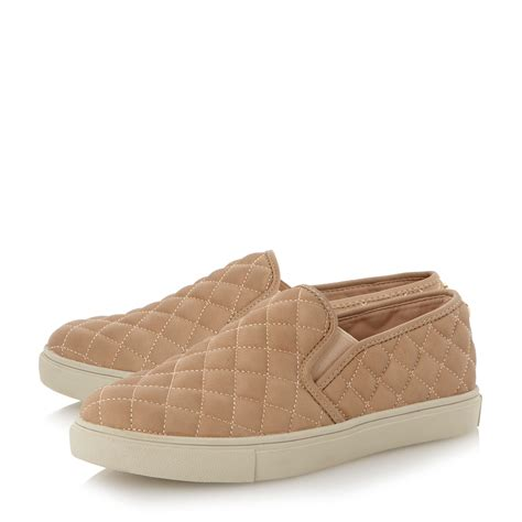 steve madden ecentricq sm quilted slip on shoes in for lyst