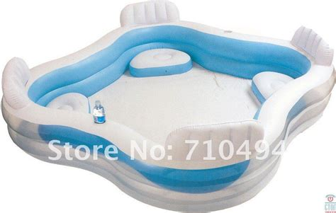 intex pool with seats square pool with seat and cushion intex