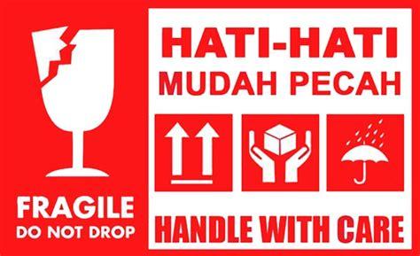 Stiker Sticker Label Pengiriman Olshop Murah Lb003 gambar jual sticker fragile stiker barang pecah belah logo