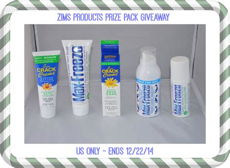 Prize Pack Giveaway - zims products prize pack giveaway ends 12 22 14 it s free at last