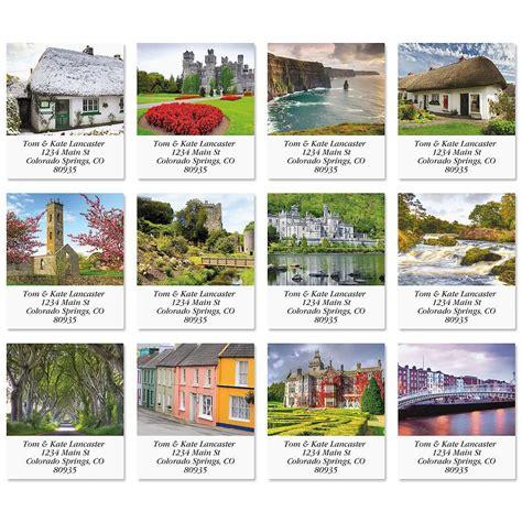 label design ireland scenic ireland select return address labels colorful images