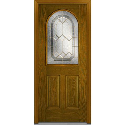32x78 Exterior Door Mmi Door 32 In X 80 In Majestic Elegance Right 1 2 Lite 2 Panel Classic Stained