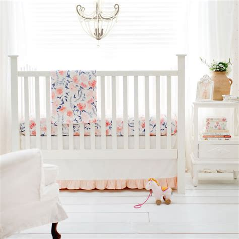 floral baby bedding floral crib bedding peach baby bedding floral baby