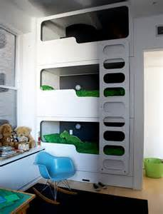 cool beds for small rooms triple bunk beds