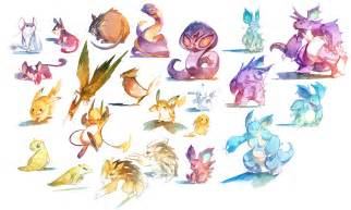 Watercolor pokemon 019 034 by nicholaskole on deviantart