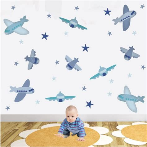 boy wall stickers boys aeroplane jet wall stickers