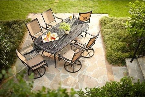 7 swivel chair patio set wonderful 7 patio dining set with swivel chairs