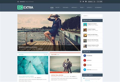 elegant themes web design elegant themes release the extra theme webdesigner depot