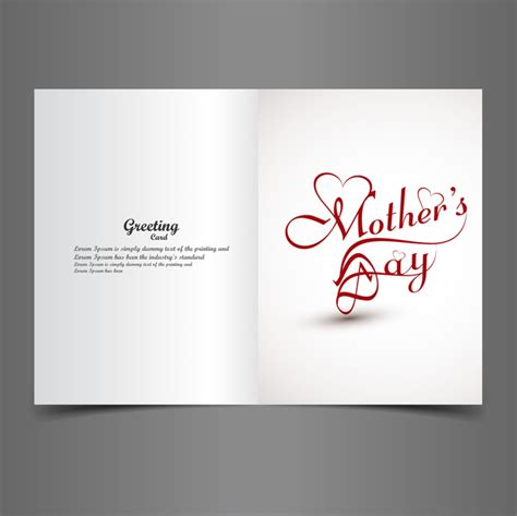 free text cards greeting card mothers day creative text concept vector