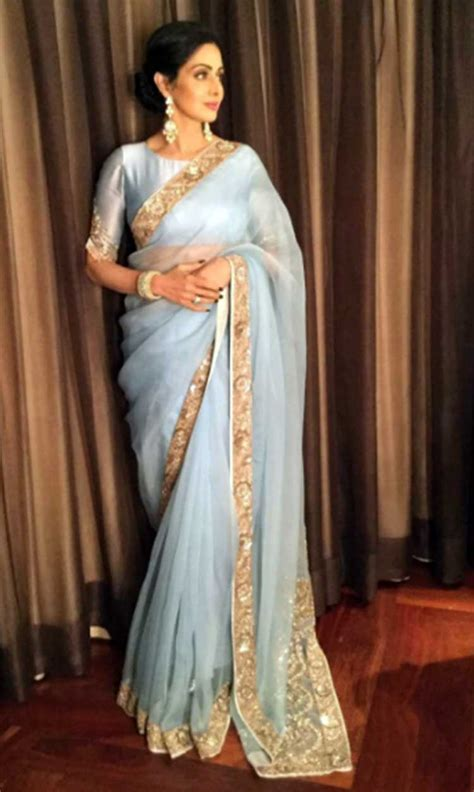 sridevi gane sridevi has got her saree game on point during mom promotions