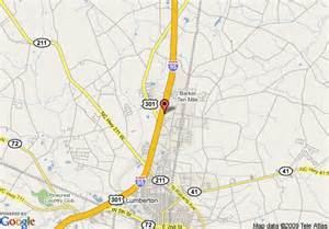 i 95 map carolina map of hton inn lumberton i 95 lumberton