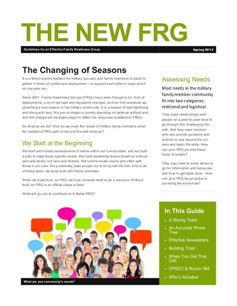 Family Readiness Leader Cover Letter by The New Frg By Jen Schwab