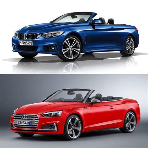 audi a5 or bmw 4 series photo comparison bmw 4 series convertible vs audi a5 s5