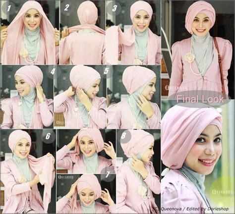 tutorial hijab tanpa peniti menggunakan scarf glitter 8 tutorial hijab yang bisa kamu coba tanpa menggunakan