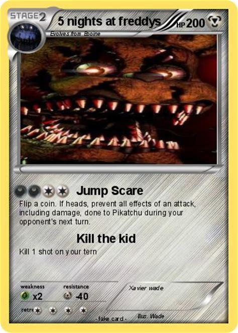 Freddy S Gift Card - pok 233 mon 5 nights at freddys 2 2 jump scare my pokemon card