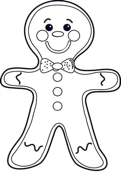 coloring page gingerbread boy gingerbread wearing ribbons coloring pages do