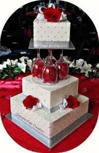 elegant white and silver wedding cake flickr photo