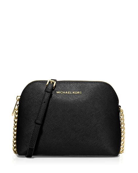 Michael Kors Crossbody michael michael kors crossbody large dome in black lyst
