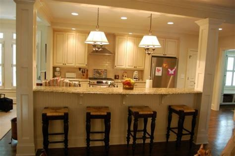 kitchen island wall 13 affordable half wall in kitchen for breakfast bar idea