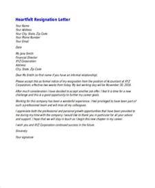Best Heartfelt Resignation Letter 49 Resignation Letter Exles