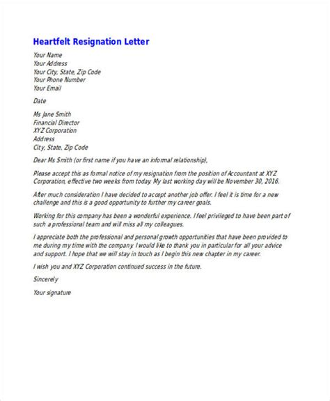 Resignation Letter For Moving Out Of State by 49 Resignation Letter Exles