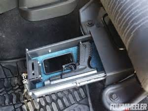 jeep wrangler seat lock box gun safes cases